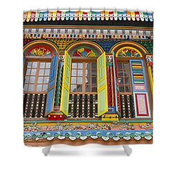 Historic Colorful Peranakan House Shower Curtain by David Gn