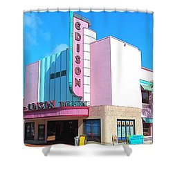Deco Historic Edison Theater. Ft. Myers. Florida. Shower Curtain