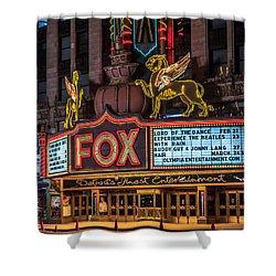 Historic Fox Theatre In Detroit Michigan Shower Curtain