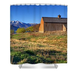 Historic Francis Tate Barn - Wasatch Mountains Shower Curtain by Gary Whitton