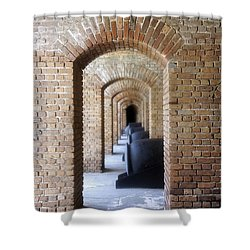 Shower Curtain featuring the photograph Historic Hallway by Laurie Perry