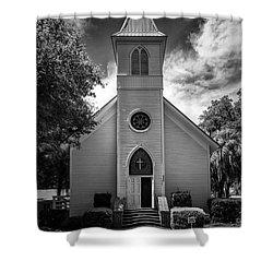 Historic Mcintosh Methodist Church Shower Curtain by Lynn Palmer
