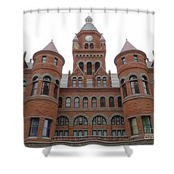 Shower Curtain featuring the photograph Historic Old Red Courthouse Dallas #1 by Robert ONeil