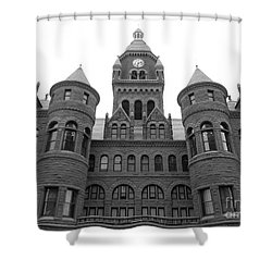 Shower Curtain featuring the photograph Historic Old Red Courthouse Dallas #2 by Robert ONeil
