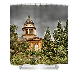 Shower Curtain featuring the photograph Historic Placer County Courthouse by Jim Thompson