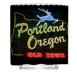 Historic Portland Oregon Old Town Sign Shower Curtain
