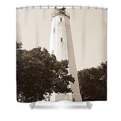 Historic Sandy Hook Lighthouse Shower Curtain