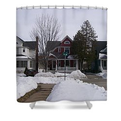 Historic Seventh Street Menominee Shower Curtain by Jonathon Hansen