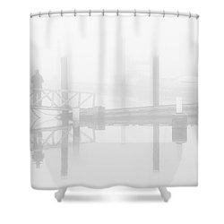 Historic Stewart Farm In The Fog Shower Curtain