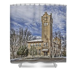 Historic Train Station Shower Curtain by Fran Riley