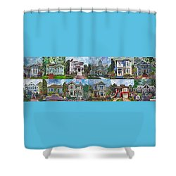 Historical Homes Shower Curtain by Linda Weinstock