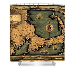 Historical Map Of Cape Cod Shower Curtain