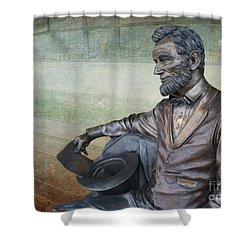 History - Abraham Lincoln Contemplates -  Luther Fine Art Shower Curtain