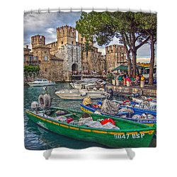 History At Lake Garda Shower Curtain