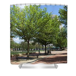 Lincoln Square Springfield Il - Luther Fine Art Shower Curtain
