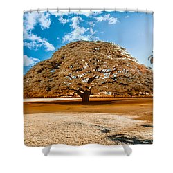 Hitachi Tree In Infrared Shower Curtain