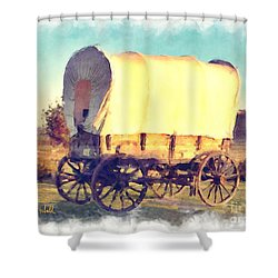 Hitch Your Wagon Shower Curtain