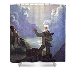 Hitchhiker Shower Curtain