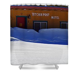 Hitchin' Post March Shower Curtain by Jeremy Rhoades