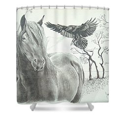 Hitch'n A Ride Shower Curtain