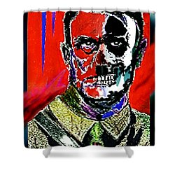 Hitler  - The  Face  Of  Evil Shower Curtain by Hartmut Jager