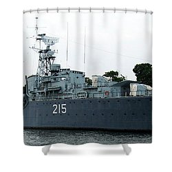 Hmcs Haida Twin Gun Tribal Class Destroyer  Shower Curtain