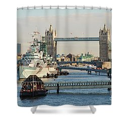 Hms Belfast London Shower Curtain