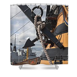 Hms Diamond And Hms Victory Shower Curtain
