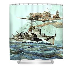 Hms Ledbury Shower Curtain