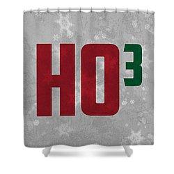 Ho Ho Ho Have A Very Nerdy Christmas Shower Curtain by Design Turnpike