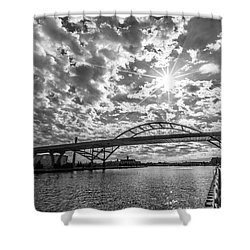 Hoan Bridge Peak Thru Shower Curtain
