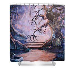 Hobbit Watering Hole Shower Curtain