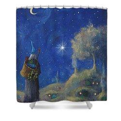 Hobbiton Christmas Eve Shower Curtain by Joe Gilronan
