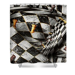 Hobby - Chess - Your Move Shower Curtain by Mike Savad