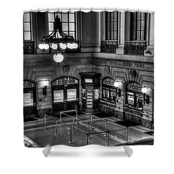 Hoboken Terminal Waiting Room Shower Curtain