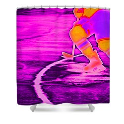 Hockey Freeze Shower Curtain by Karol Livote