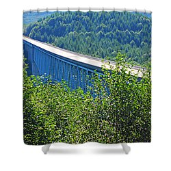 Hoffstadt Creek Bridge To Mount St. Helens Shower Curtain