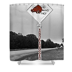 Hog Sign Shower Curtain