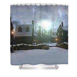 Hogsmeade Shower Curtain by Cynthia Decker
