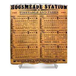 Hogsmeade Station Timetable Shower Curtain