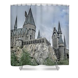 Hogswarts Castle  Shower Curtain by Edward Fielding