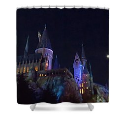 Hogwarts Castle At Night Shower Curtain
