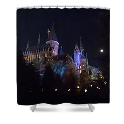 Hogwarts Castle In Lights Shower Curtain