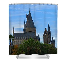 Hogwarts Castle With Towers Shower Curtain