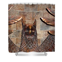 Hogwarts Hippogriff Guardian Shower Curtain by David Nicholls