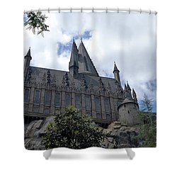 Hogwarts School Shower Curtain by Richard Reeve