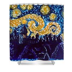 Hogwarts Starry Night Shower Curtain by Jera Sky