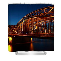 Shower Curtain featuring the photograph Hohenzollern Bridge by Mihai Andritoiu