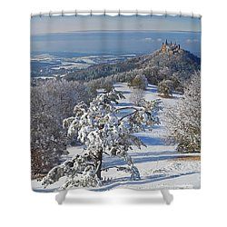 Shower Curtain featuring the photograph Hohenzollern Castle 2 by Rudi Prott