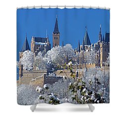 Hohenzollern Castle Germany Shower Curtain by Rudi Prott